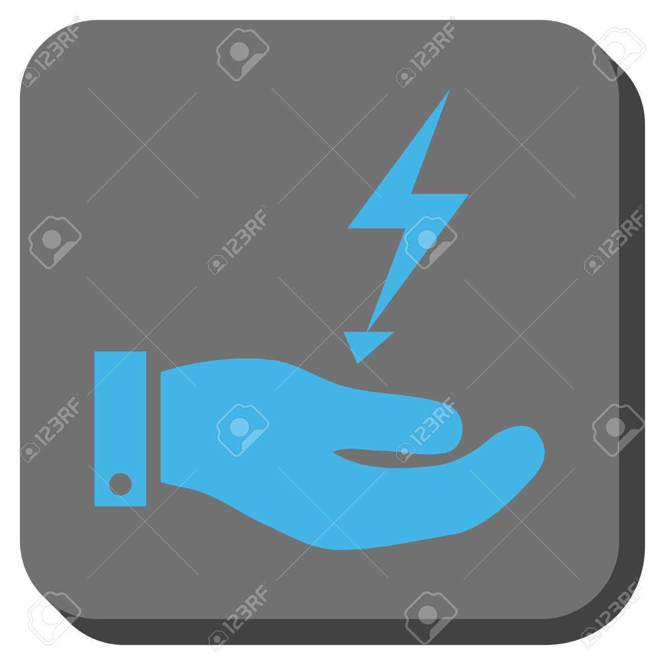 Stromversorgung Hand Schnittstelle Symbol In Der Symbolleiste ...