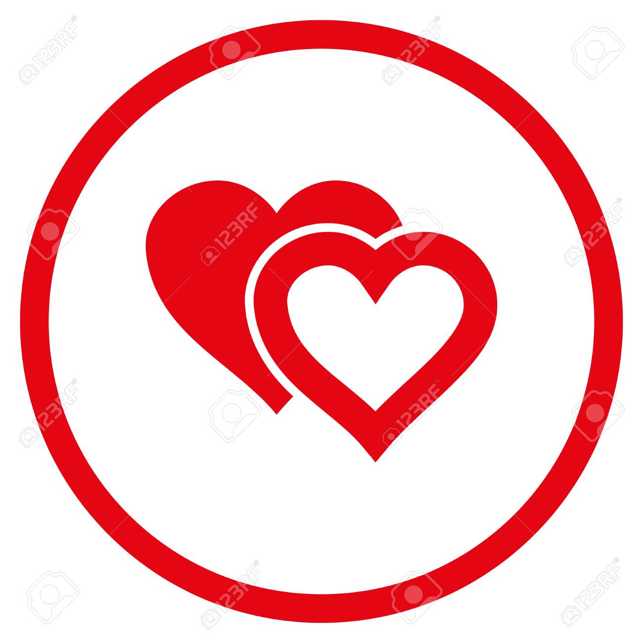 Love hearts rounded icon vector illustration style is flat iconic love hearts rounded icon vector illustration style is flat iconic symbol inside circle red buycottarizona