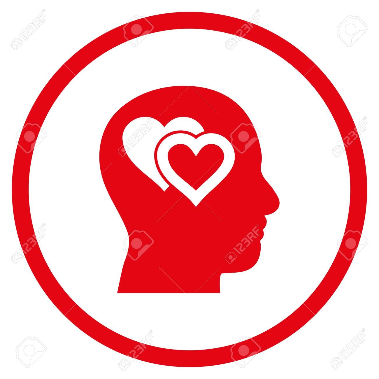Love in mind rounded icon vector illustration style is flat love in mind rounded icon vector illustration style is flat iconic symbol inside circle buycottarizona