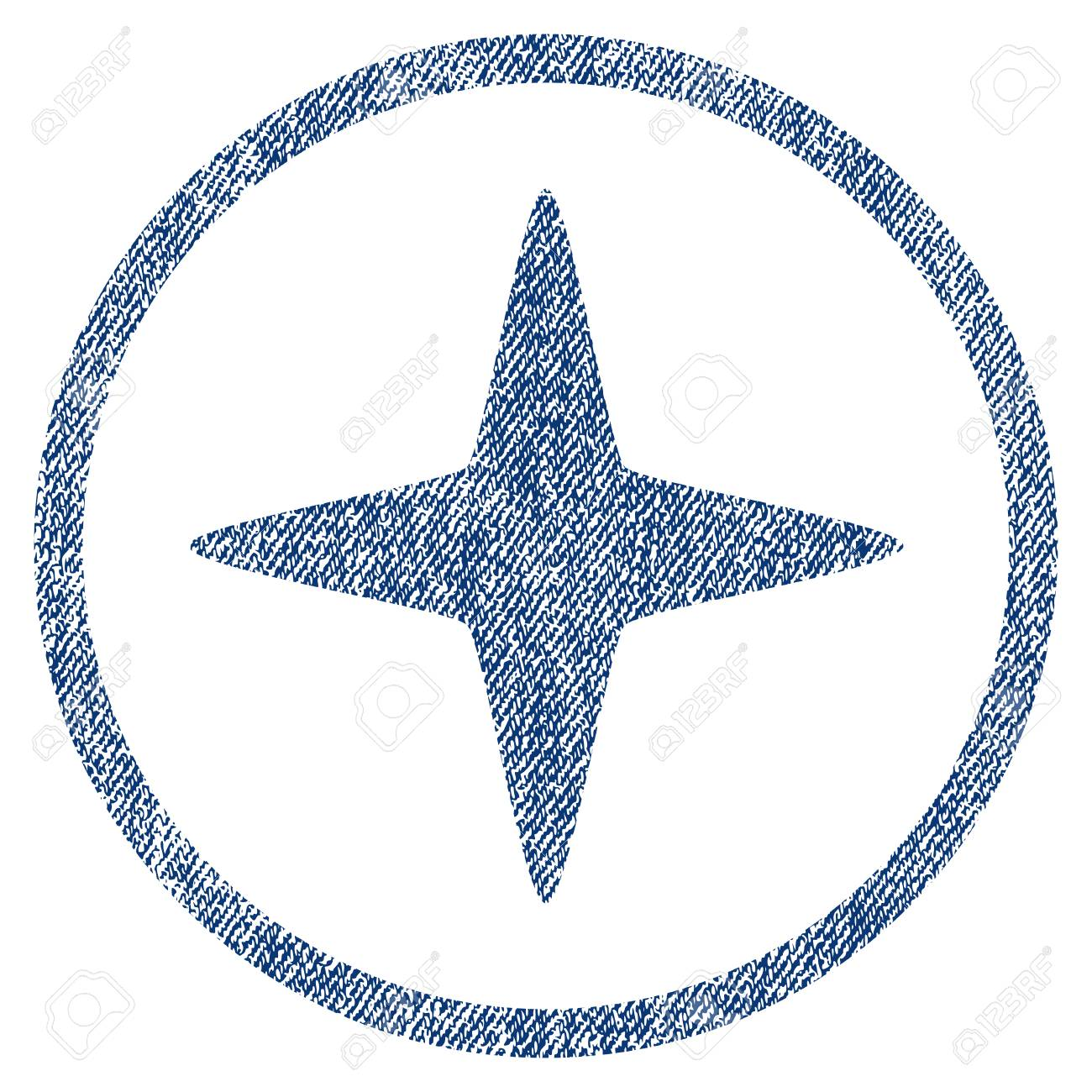 Sparkle Star textured icon for overlay watermark stamps  Blue