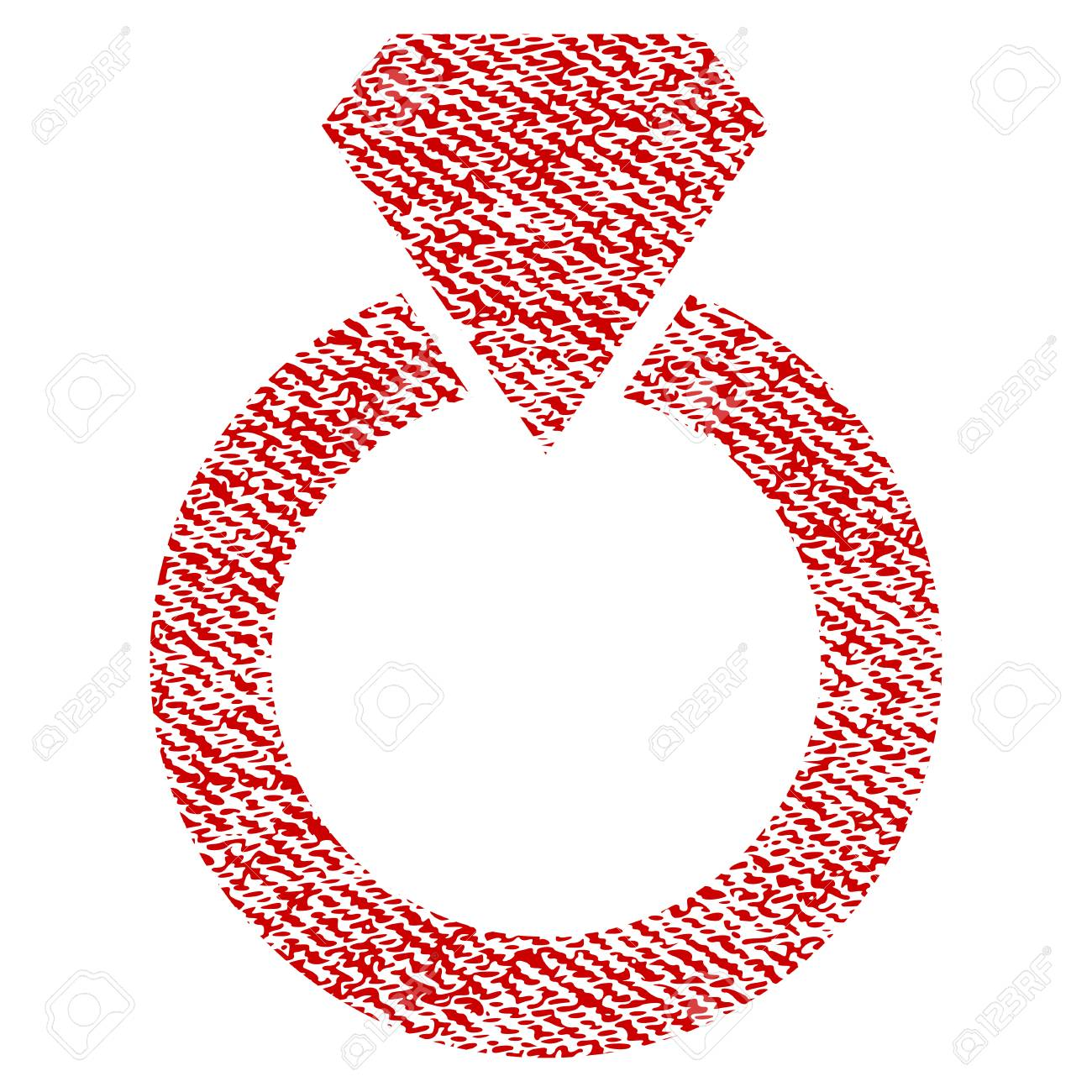 Diamond Ring Vector Textured Icon For Overlay Watermark Stamps ...