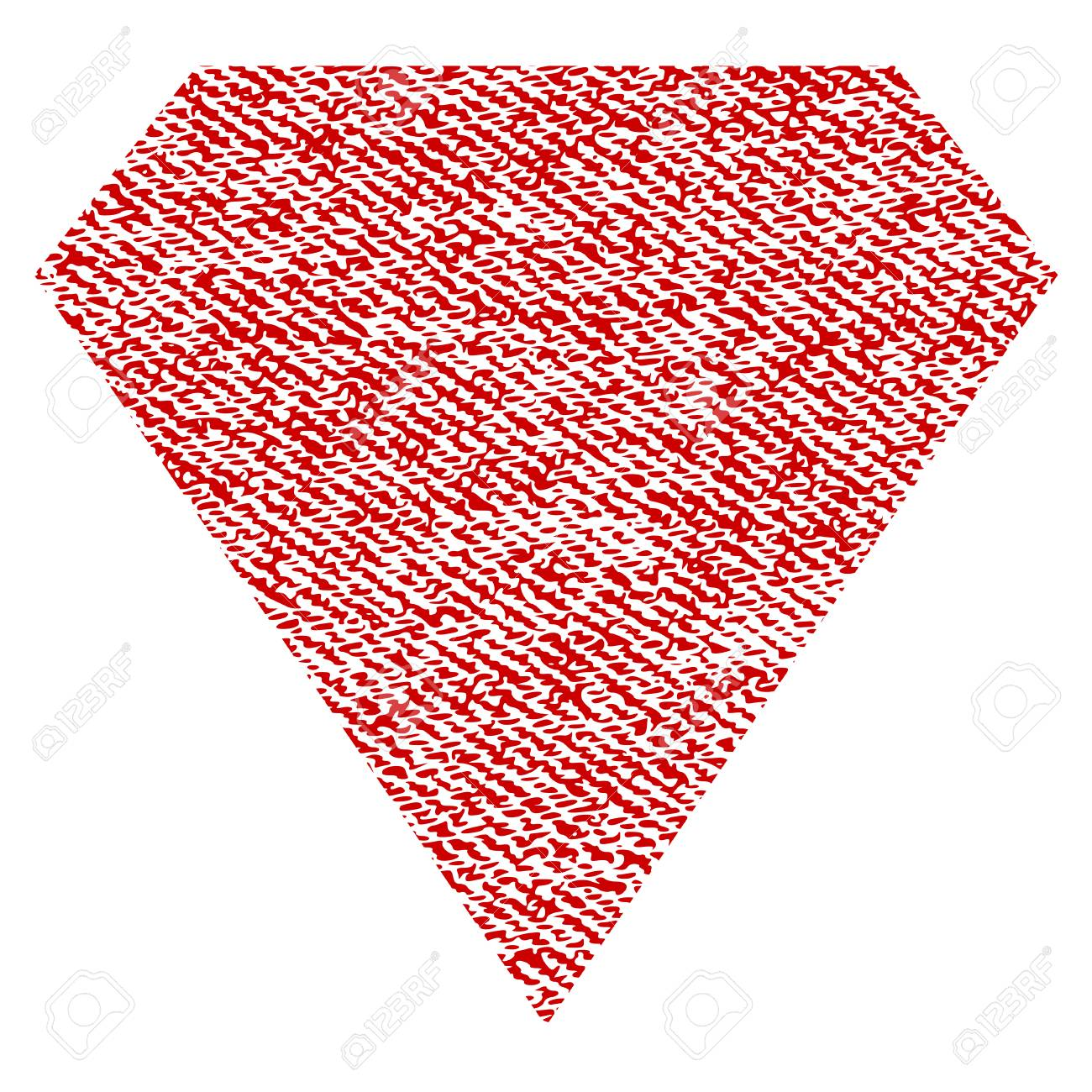Diamond Vector Textured Icon For Overlay Watermark Stamps. Red ...