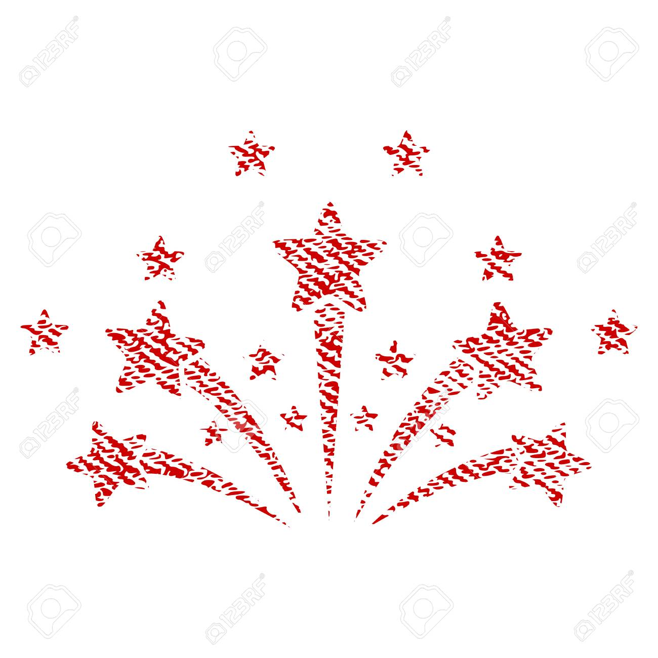 star fireworks vector textured icon for overlay watermark stamps rh 123rf com Firework Rocket Vector Fireworks Vector Transparent