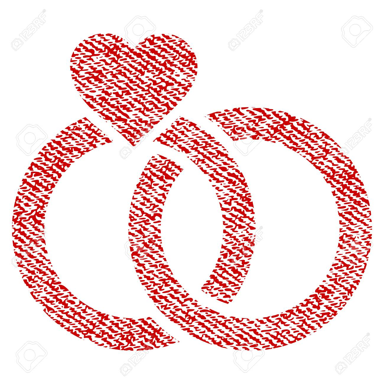 Wedding Rings With Heart Vector Textured Icon For Overlay Watermark ...