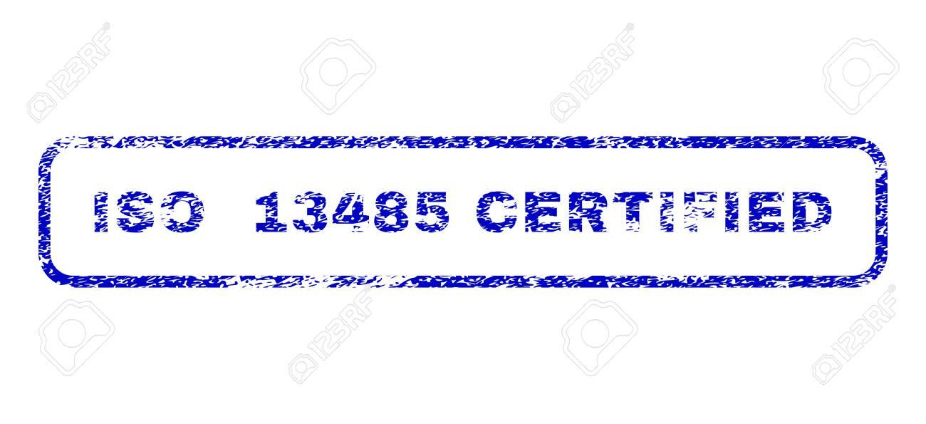 iso 13485 認定キャプション傷シール インプリント法による透かし 青い
