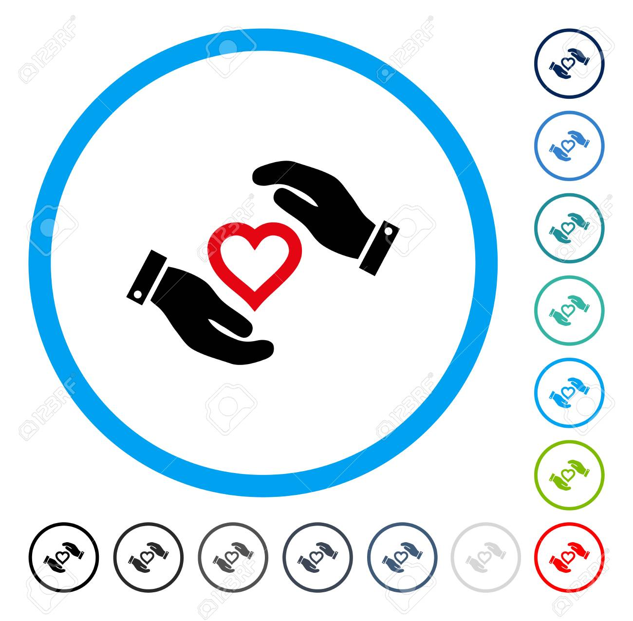 Love heart care hands icon inside circle frame vector love heart care hands icon inside circle frame vector illustration style is a flat iconic buycottarizona