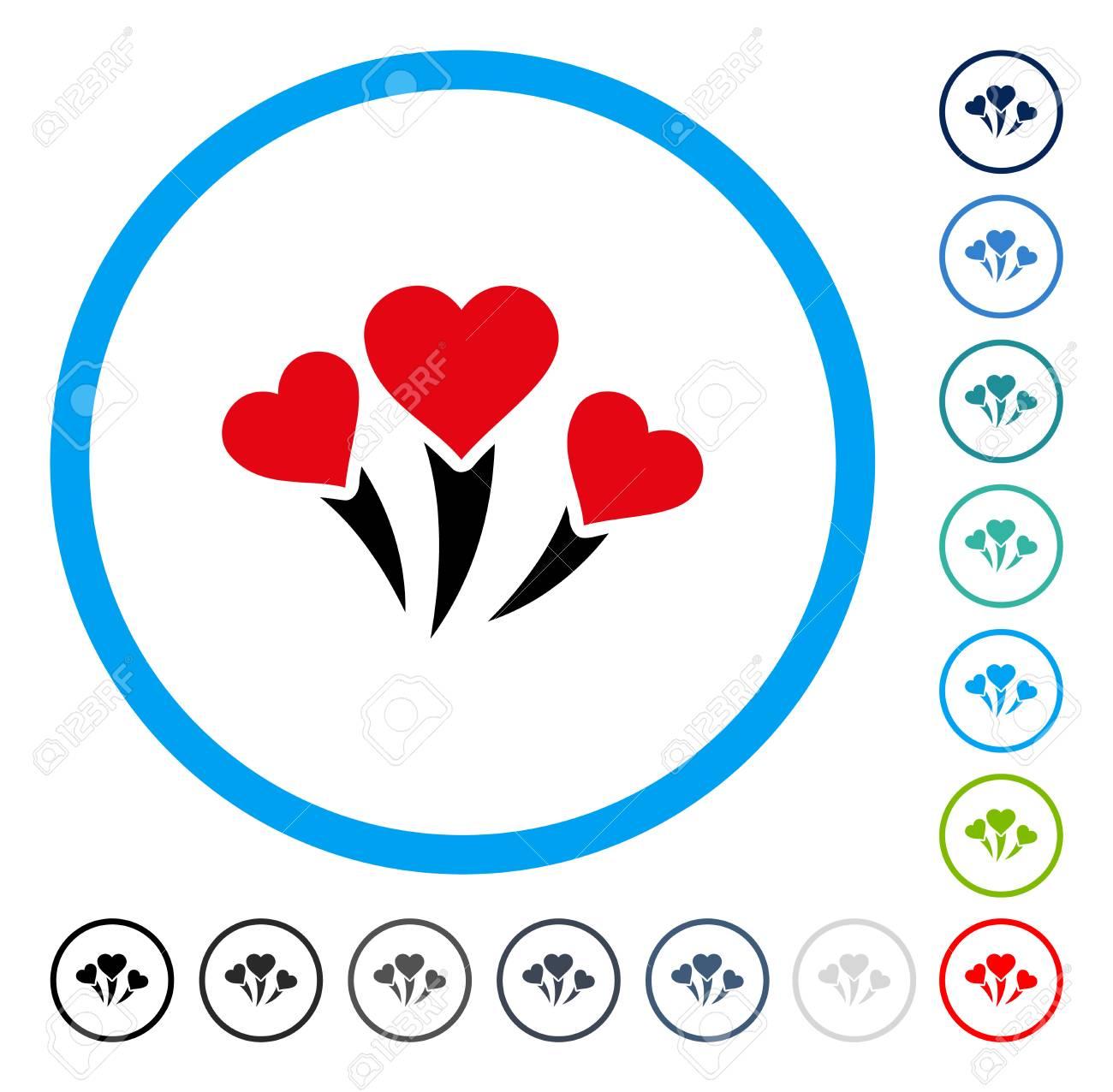 Love heart fireworks icon inside circle frame vector illustration love heart fireworks icon inside circle frame vector illustration style is a flat iconic symbol buycottarizona
