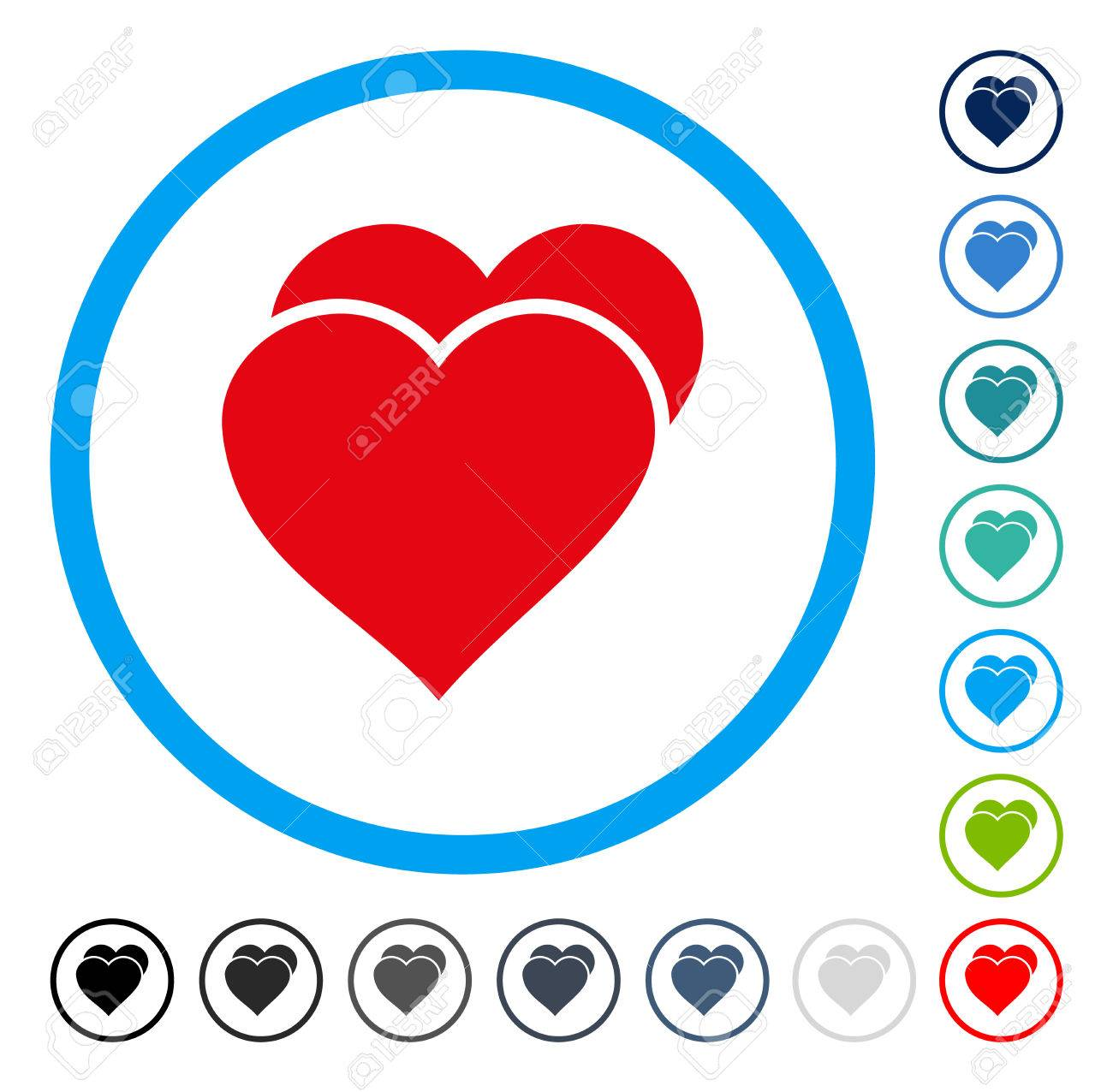 Love hearts icon inside circle frame vector illustration style love hearts icon inside circle frame vector illustration style is a flat iconic symbol in buycottarizona