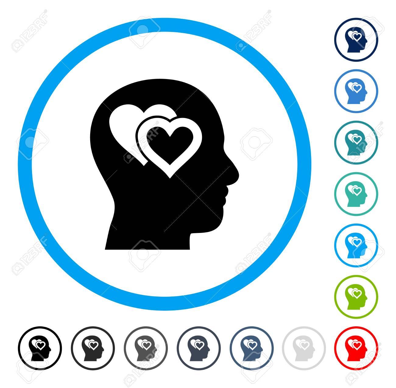 Love in mind icon inside circle frame vector illustration style love in mind icon inside circle frame vector illustration style is a flat iconic symbol buycottarizona
