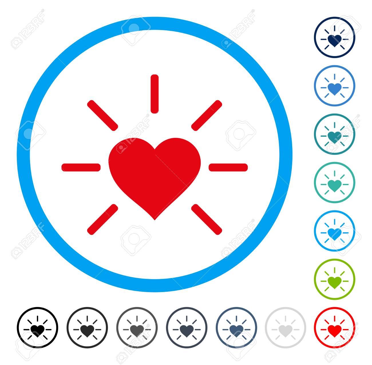 Shiny love heart icon inside round frame vector illustration shiny love heart icon inside round frame vector illustration style is a flat iconic symbol buycottarizona