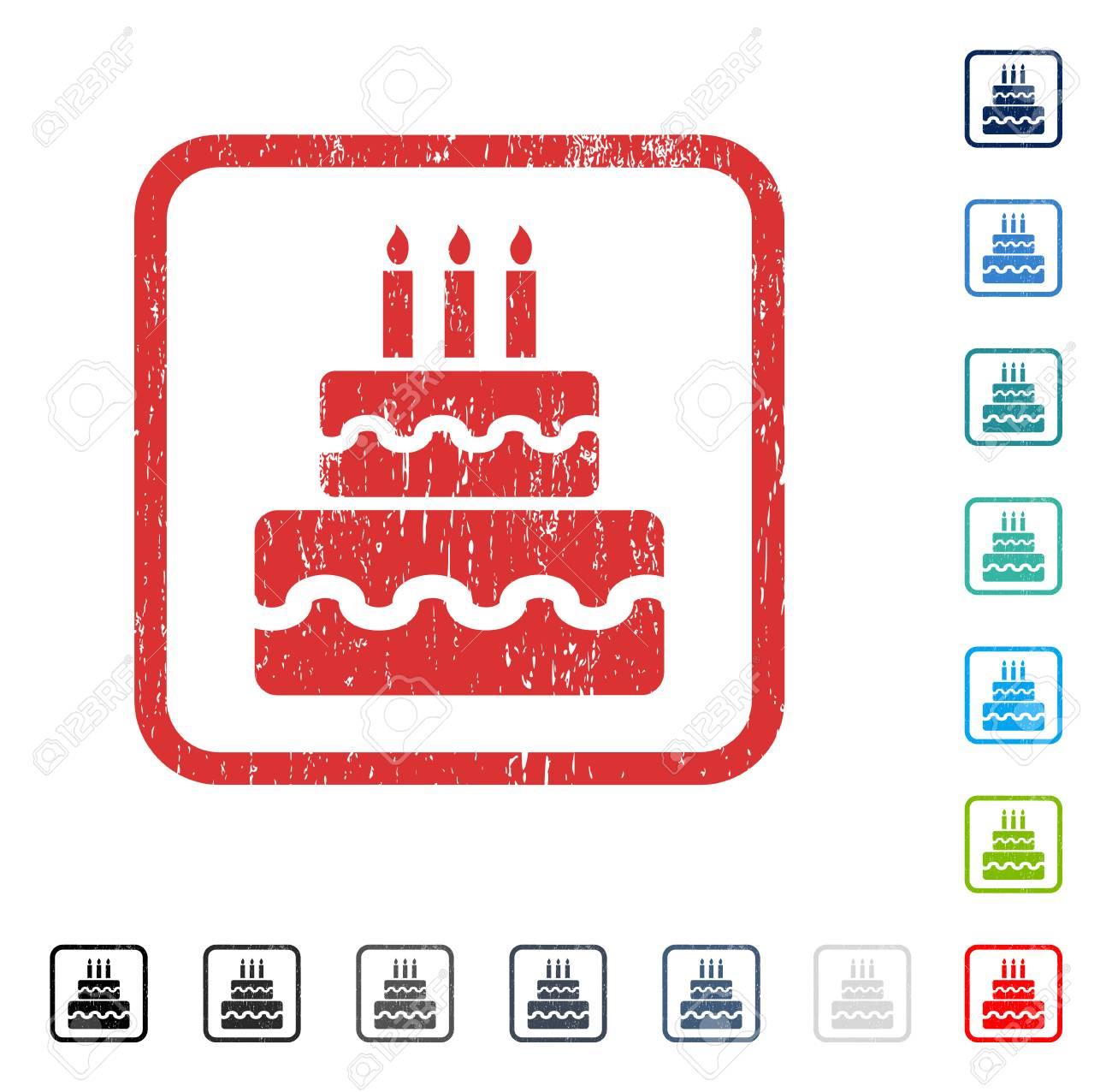 Birthday cake rubber watermark in some color versions vector birthday cake rubber watermark in some color versions vector icon symbol inside rounded rectangular buycottarizona