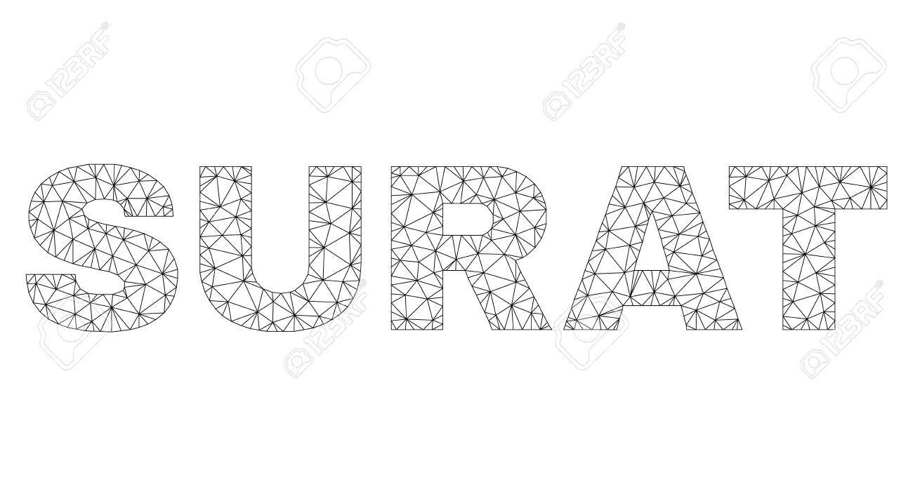 Mesh Vector Surat Text Caption Abstract Lines And Small Circles