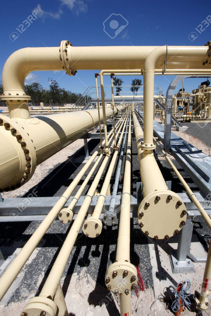 Pipe line in gas industry Stock Photo - 4157414