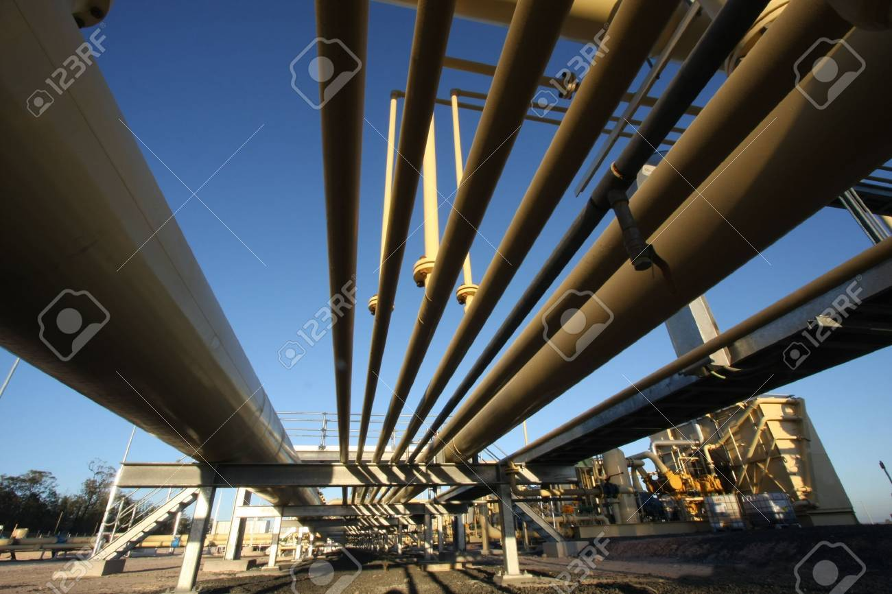 Oil and gas Industry   Pipelines Stock Photo - 4396258