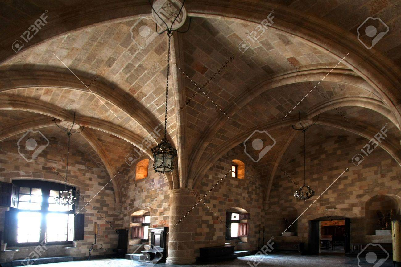 Knights room in medieval castle Stock Photo - 5097605