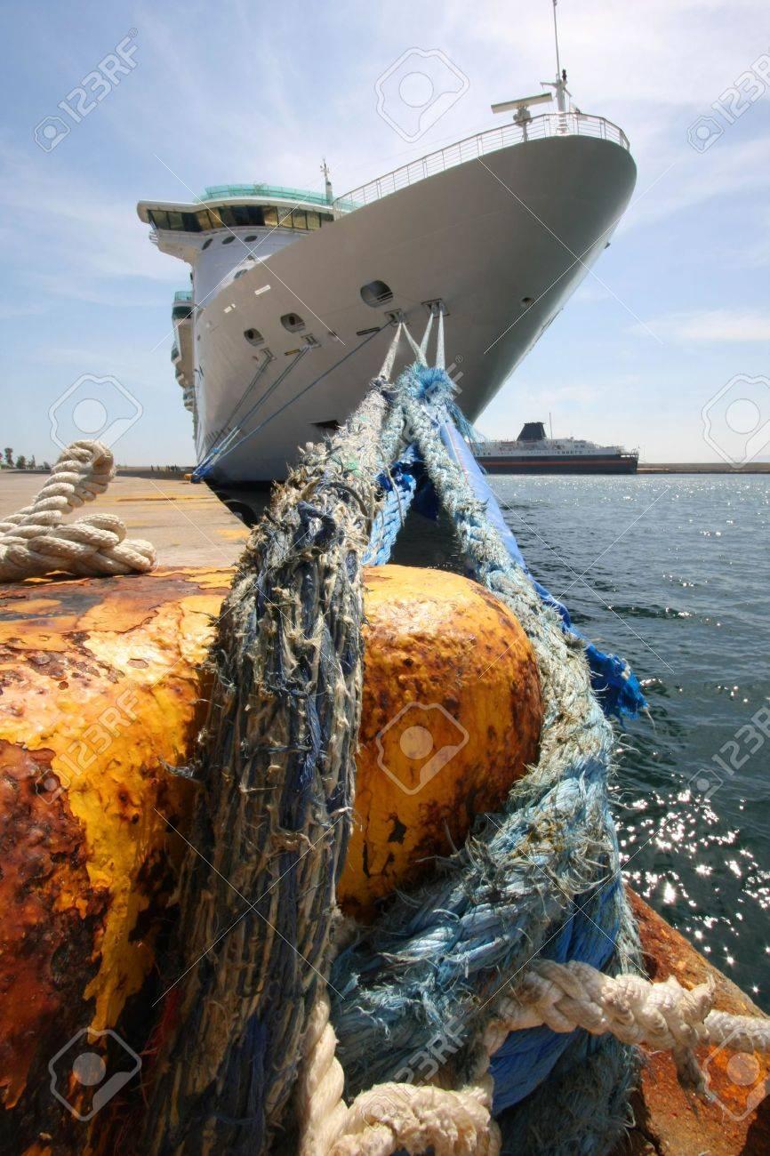 Ocean liner in the port Stock Photo - 5104268