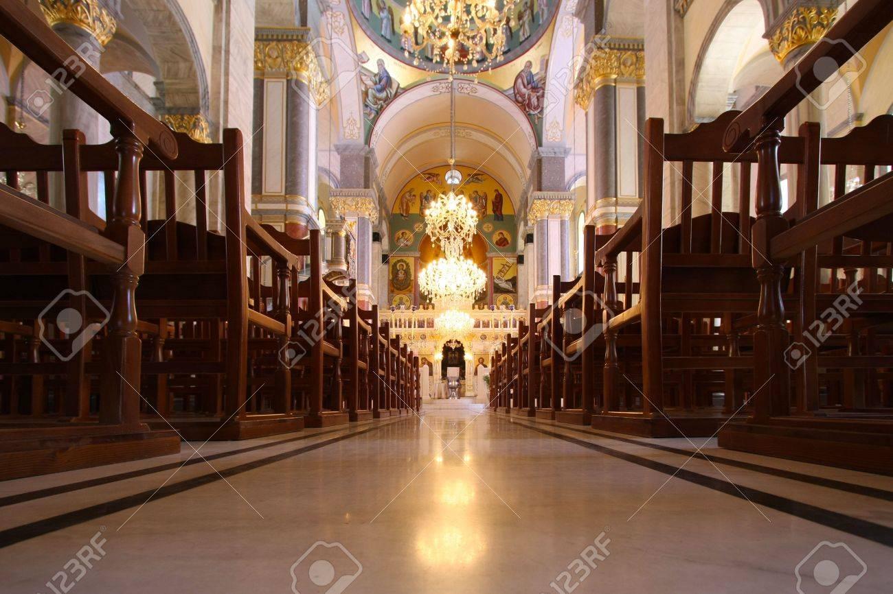 Interior of Greek orthodox Church  Stock Photo - 6122591