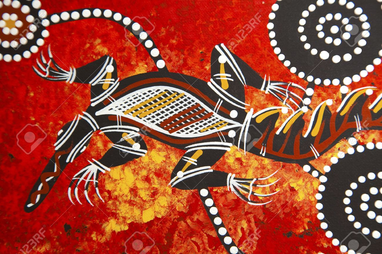 Austarlian aboriginal style design Stock Photo - 6379464