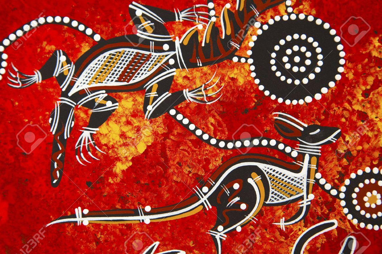 Austarlian aboriginal style design Stock Photo - 6379442