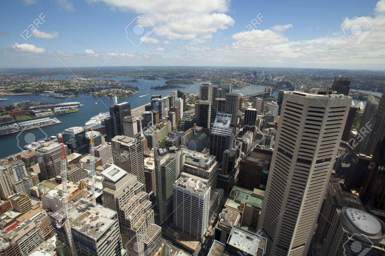 City Skyline  View of Sydney down town N.S.W. Australia Stock Photo - 6379465