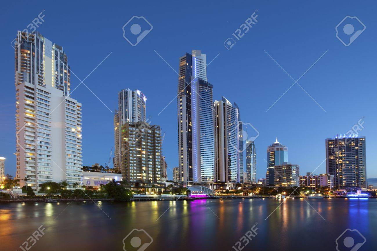Night view of Surfers paradise  Gold coast Australia Stock Photo - 6599976