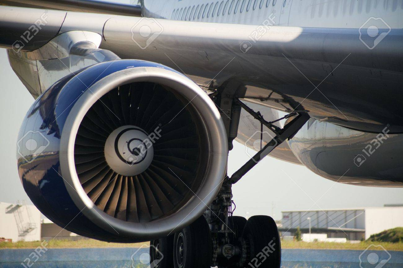 Close up of turbojet of aircraft Stock Photo - 7424545