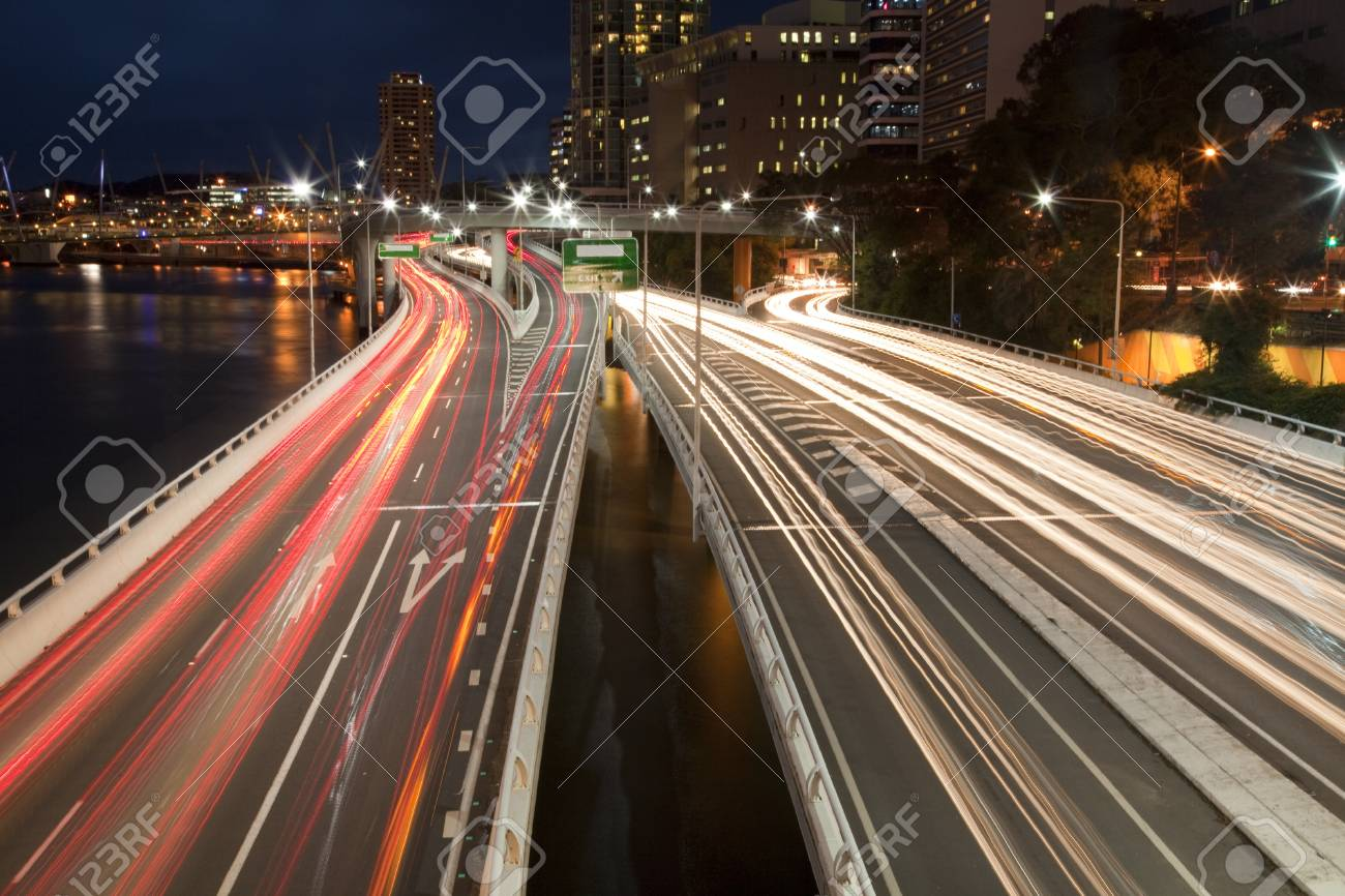 Hwy by night Stock Photo - 8455961