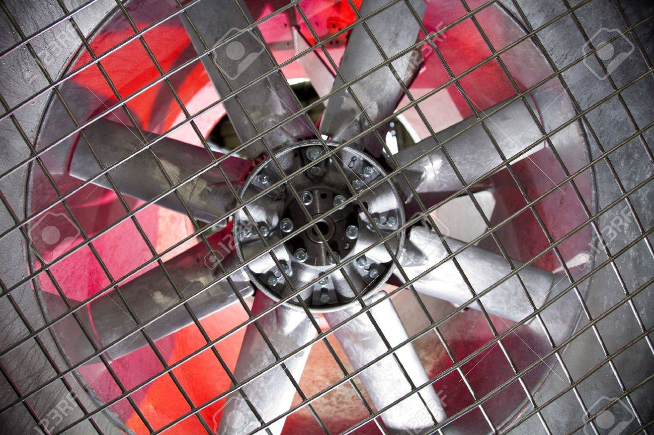 Industrial fan behind a metal grate, Stock Photo - 8455816