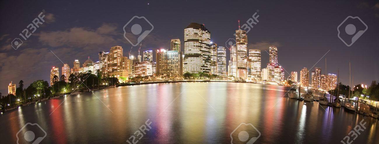 Brisbane night city view, Queensland Australia Stock Photo - 8878128