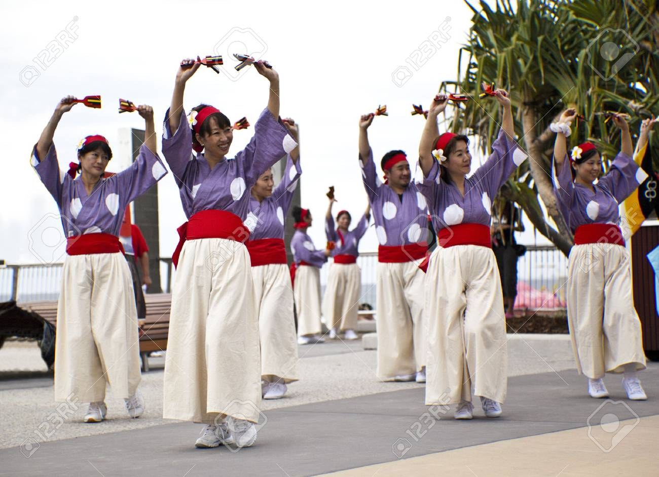 Group of dancers dancing during  Japan and Friends in Surfer Paradise Australia  Street festival Stock Photo - 13061984