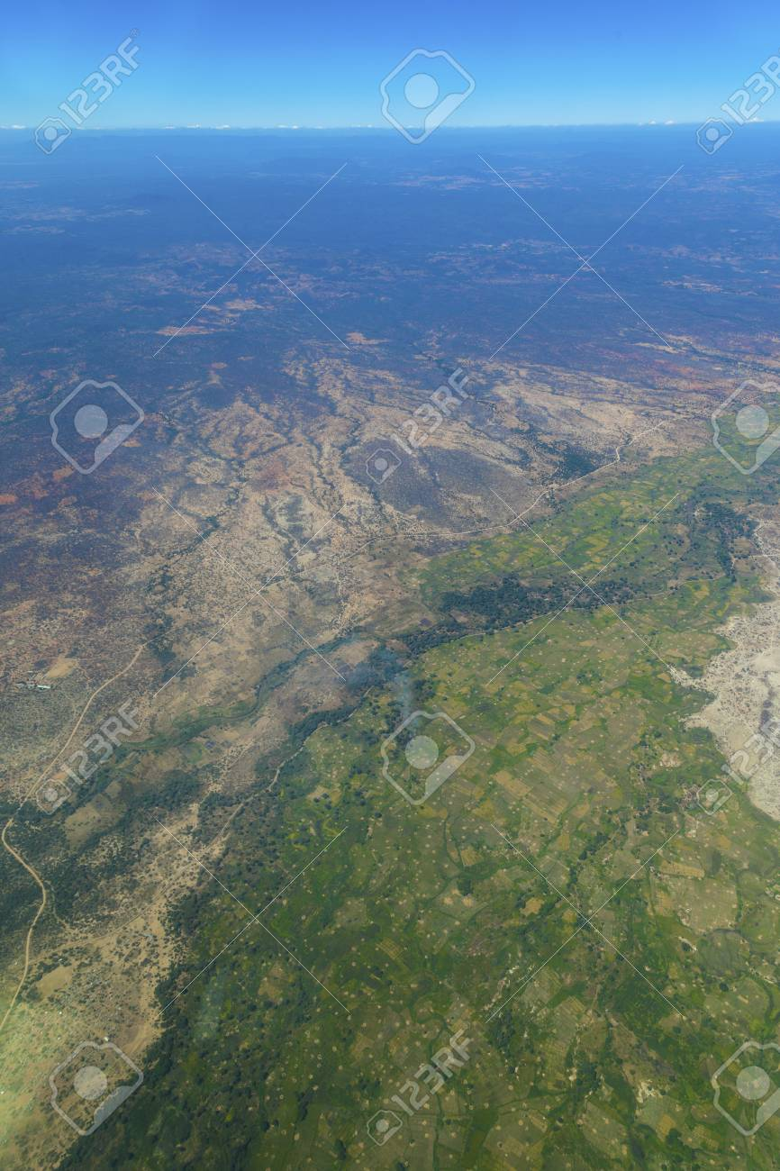 Aerial View Of The Serengeti National Park And The Great Rift