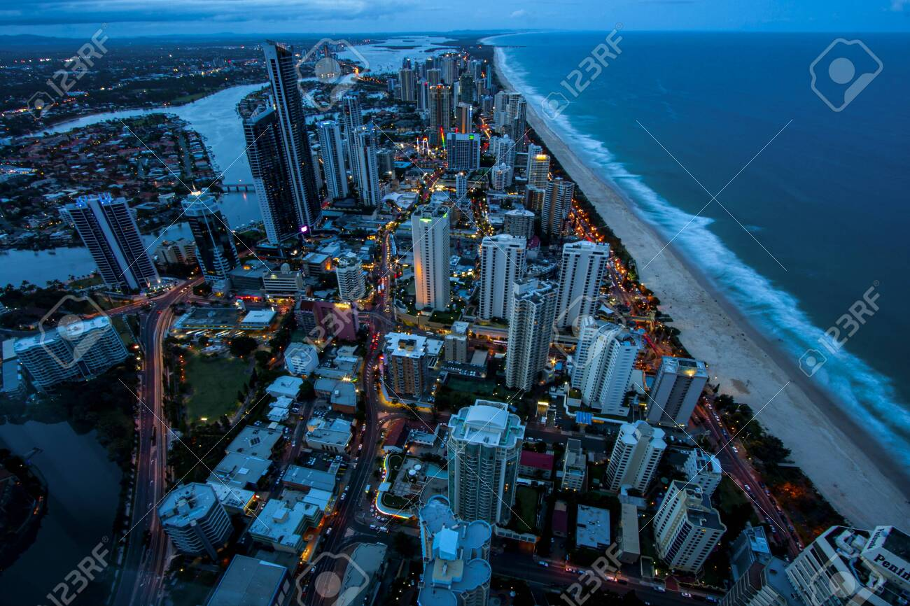Gold Coast Australia. Surfers Paradise after nightfall - 150894379