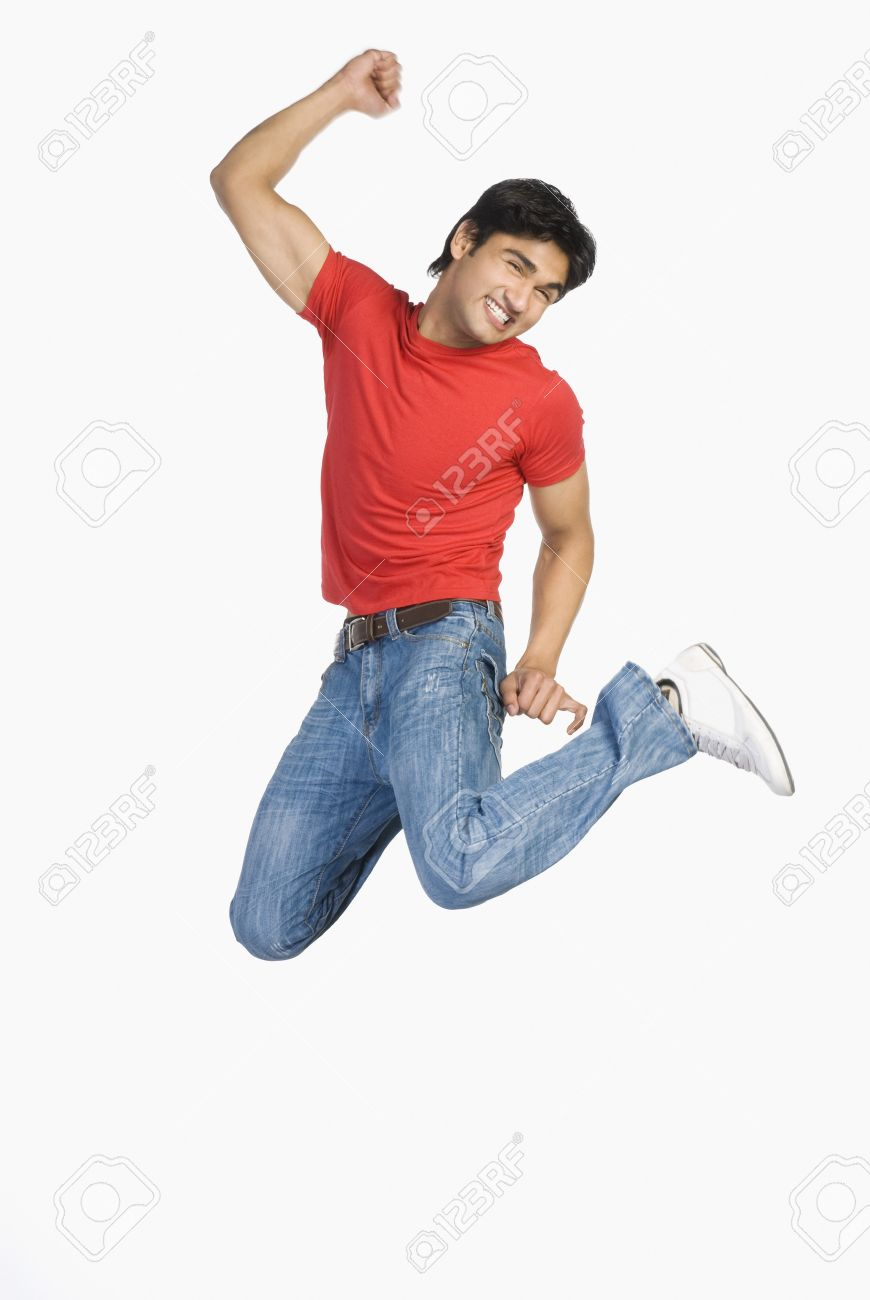 Man jumping in mid-air Stock Photo - 10123391