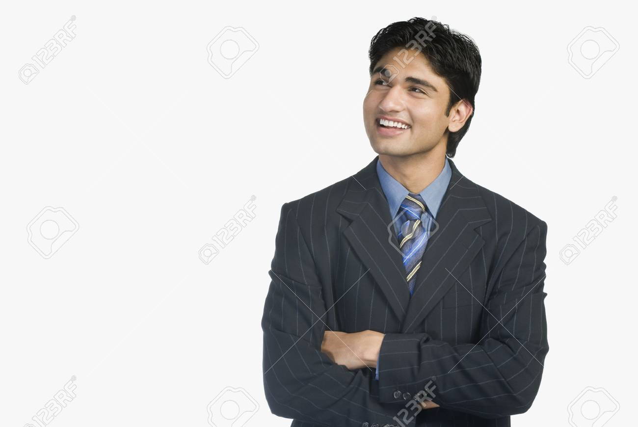 Close-up of a businessman smiling Stock Photo - 10123426