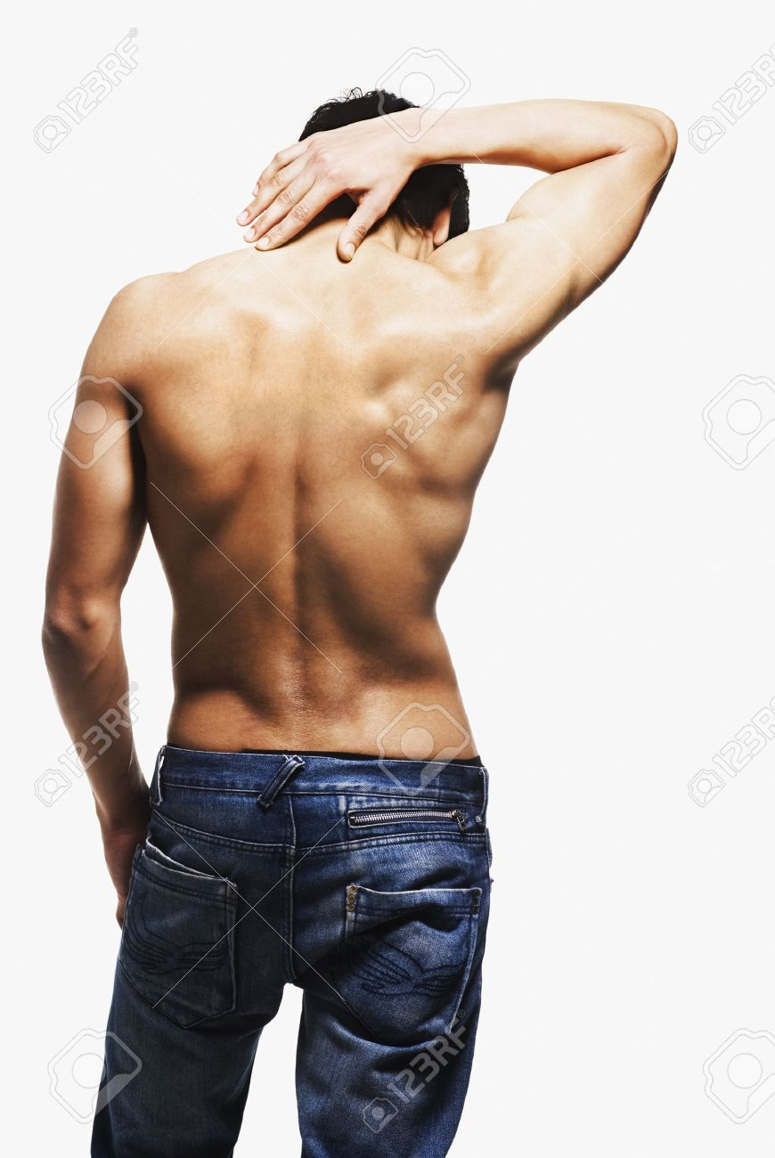 Rear view of a man stretching Stock Photo - 10169550