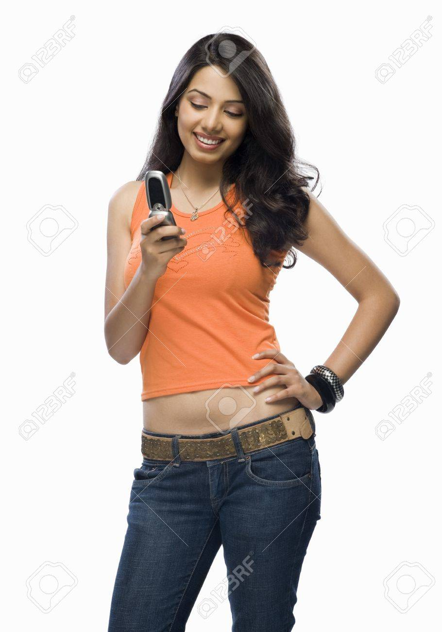 Young woman text messaging Stock Photo - 10126189