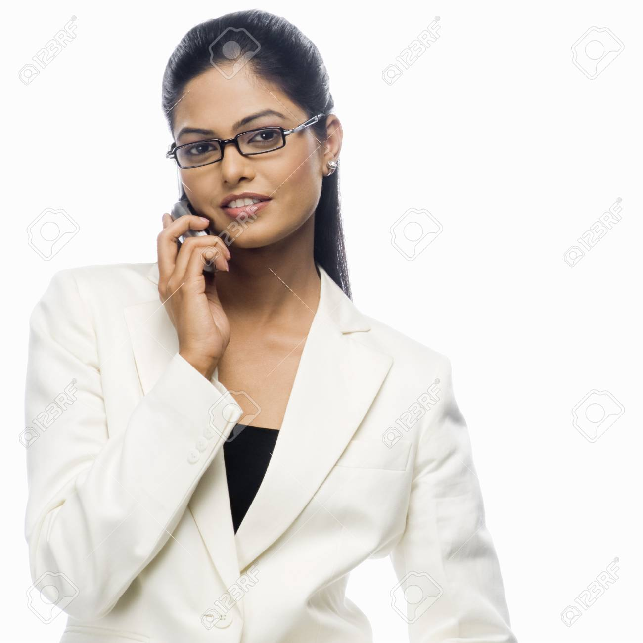 Portrait of a businesswoman talking on a mobile phone Stock Photo - 10126304