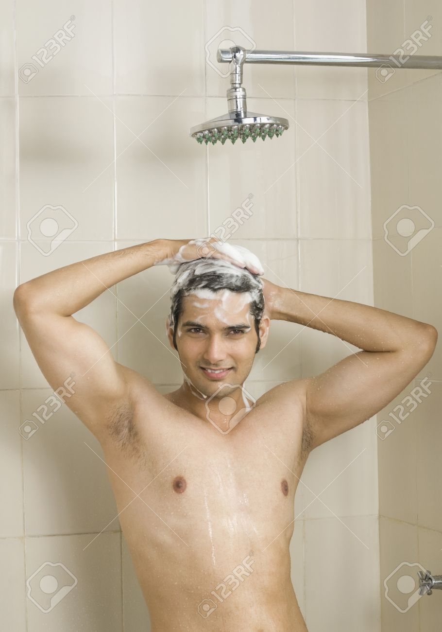 taking shower