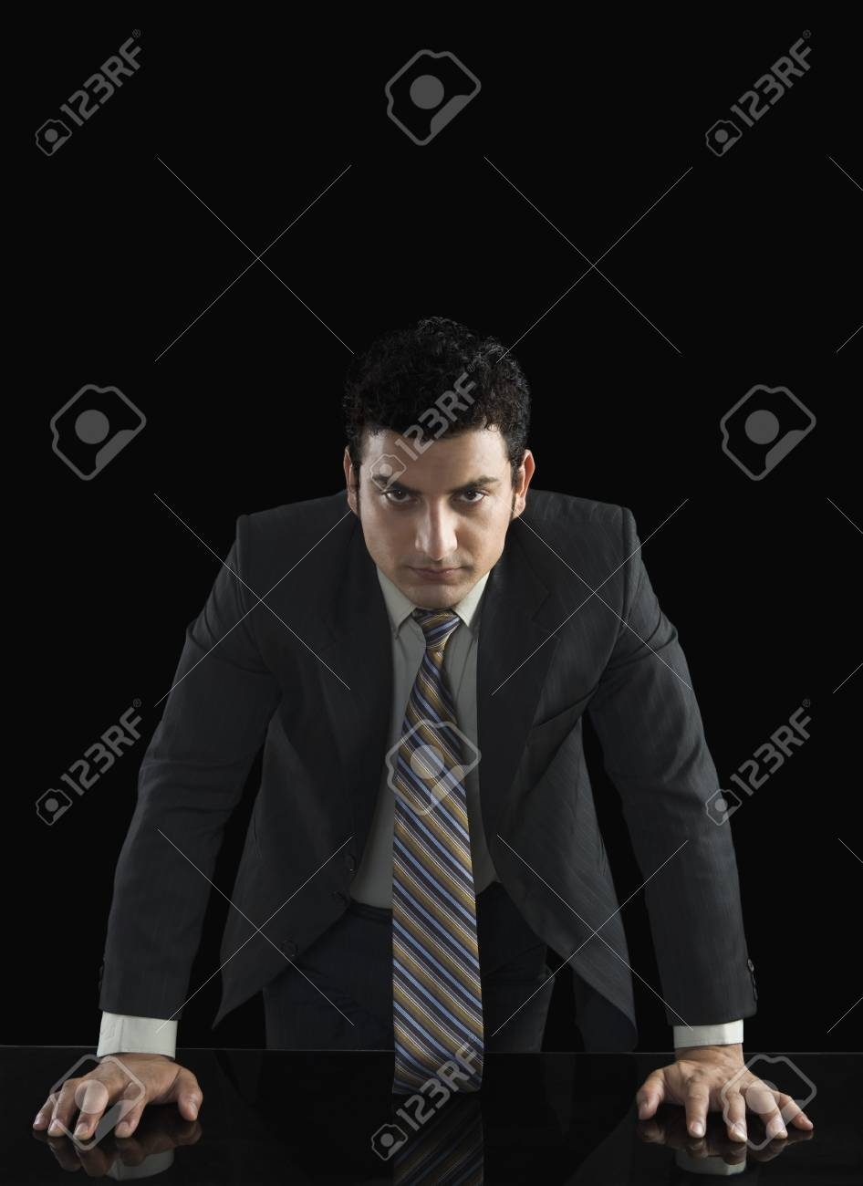 Businessman looking serious Stock Photo - 10124061