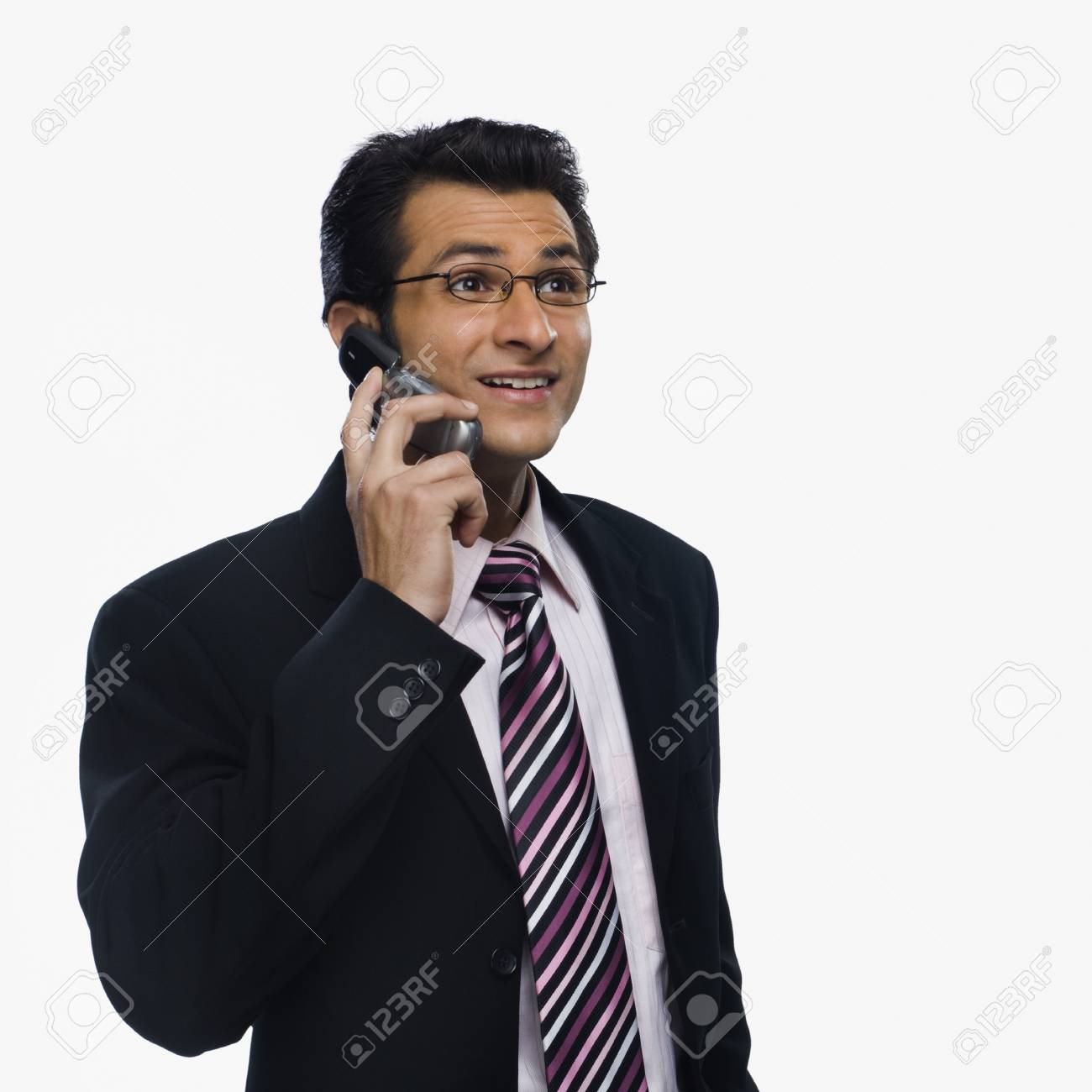 Close-up of a businessman talking on a mobile phone Stock Photo - 10124211