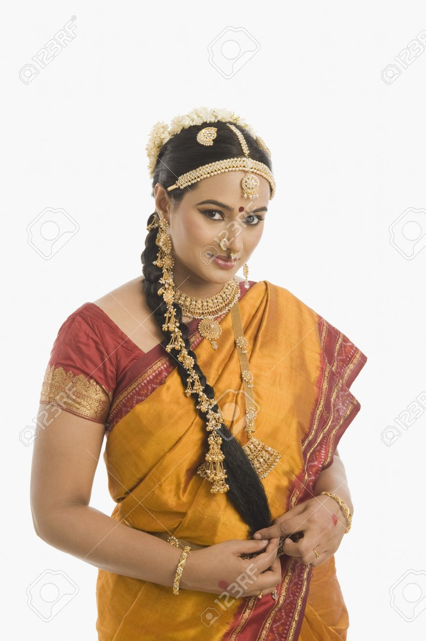dd1d19cdd6c37 South Indian Woman In Traditional Clothing Stock Photo, Picture And ...