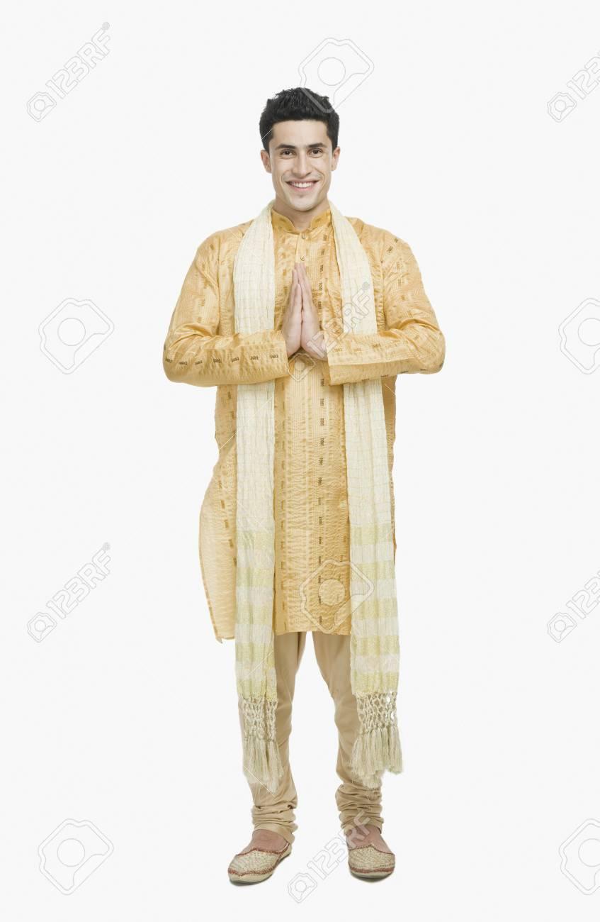 Man in prayer position Stock Photo - 10124640