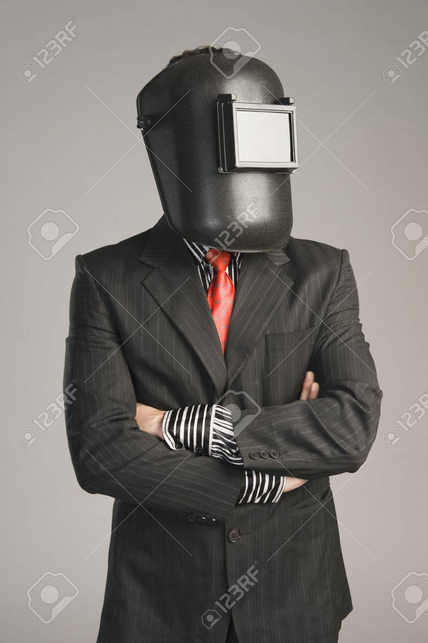 Businessman Wearing A Welding Mask Stock Photo Picture And Royalty Free Image Image 10167953