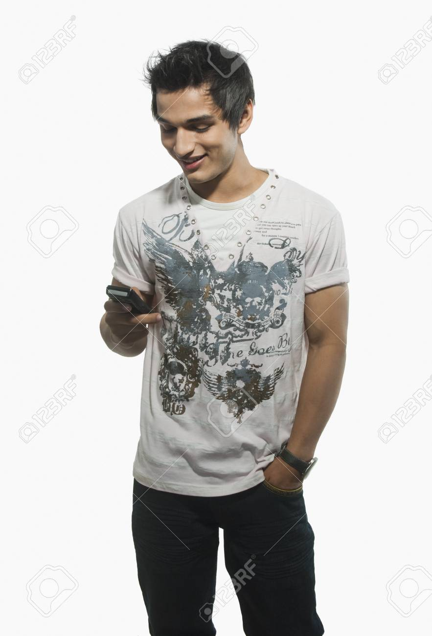 Close-up of a man text messaging on a mobile phone Stock Photo - 10167085