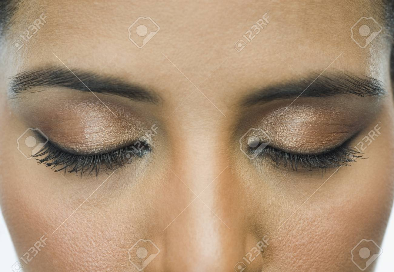 Close-up of a woman with eye make-up Stock Photo - 10167818