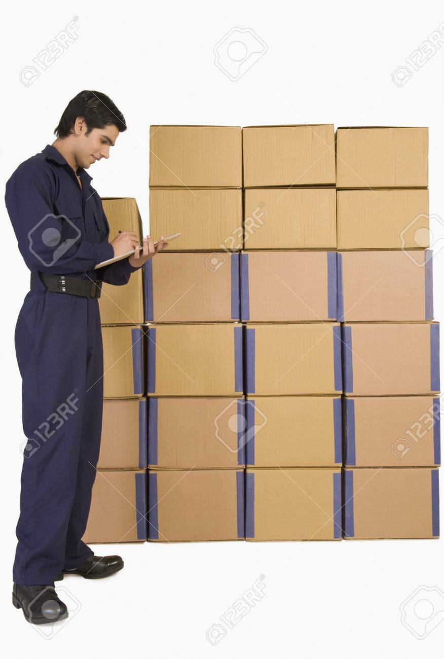Store incharge checking inventory Stock Photo - 10167353