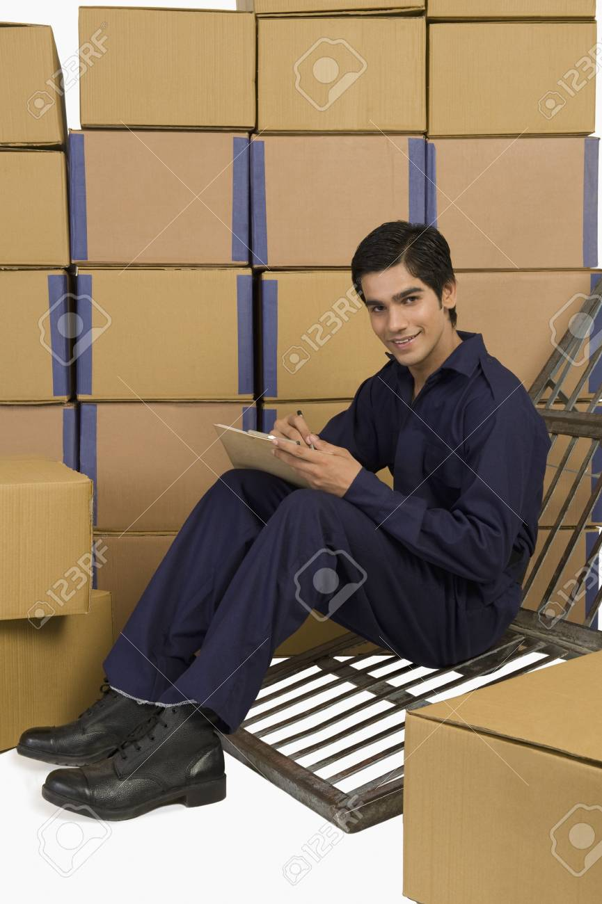 Store incharge checking inventory Stock Photo - 10167991