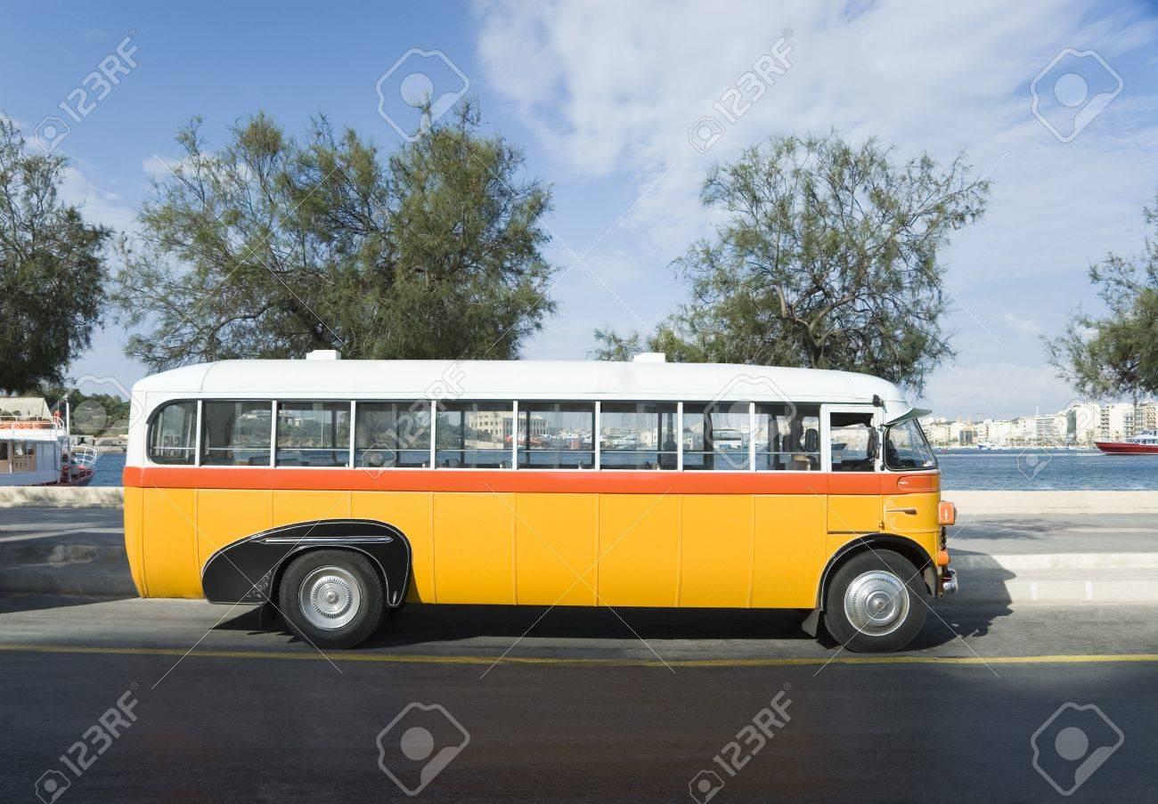Bus on the road, Valletta, Malta Stock Photo - 10205649