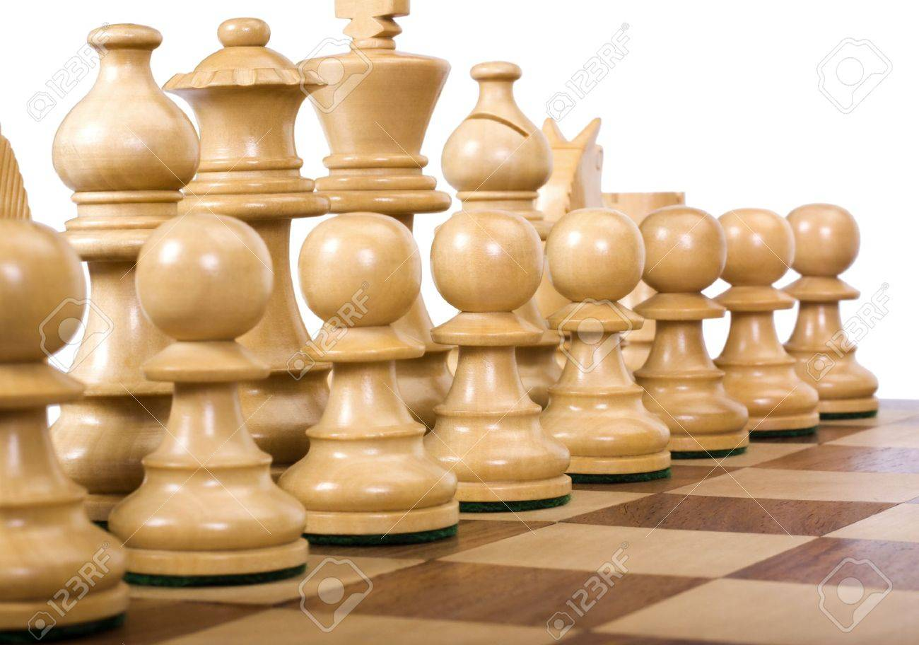Close-up of chess pieces on a chessboard Stock Photo - 10239275