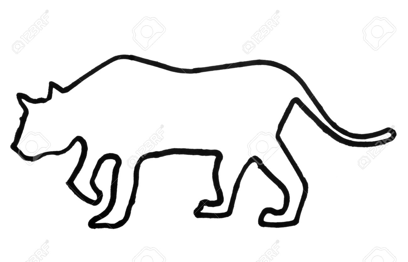 outline of a tiger stock photo 10234553